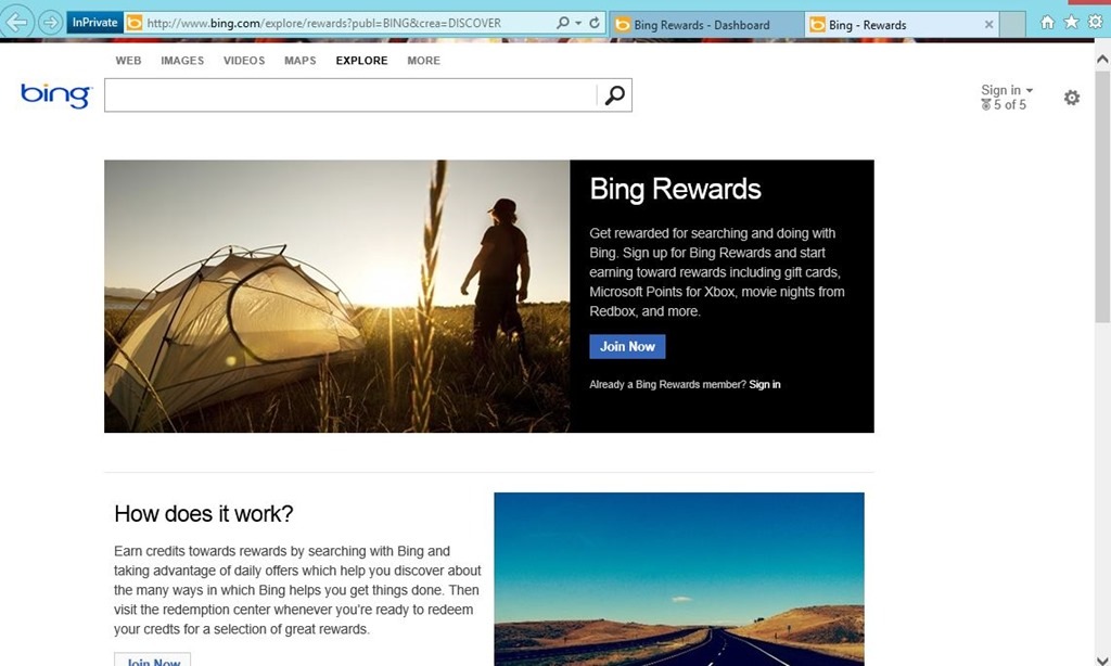 What are bing rewards how does bing search work more share the